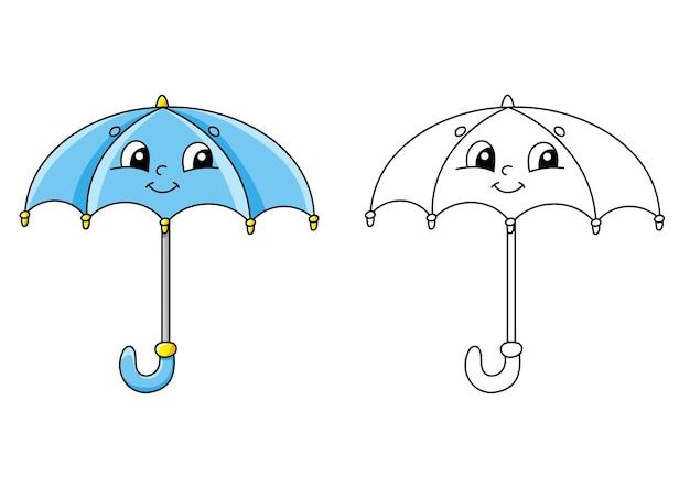 Pagina Da Colorare Per L Illustrazione Dei Bambini Vettore Premium