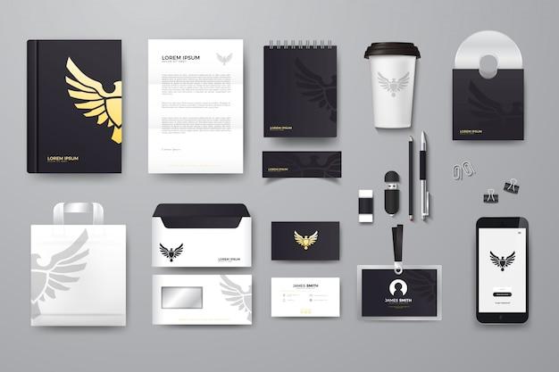 Mockup di branding aziendale Vettore Premium