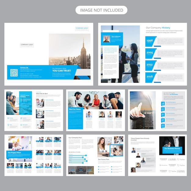 Modello di brochure del profilo aziendale Vettore Premium