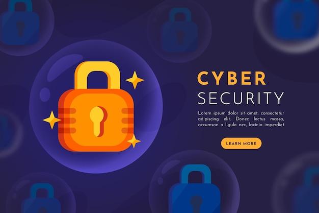 Concetto di sicurezza informatica Vettore Premium