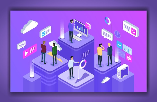 Concetto di tecnologia digitale. Vettore Premium