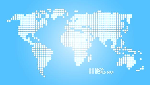 Illustrazione della mappa del mondo di punti di concetto Vettore Premium