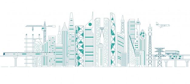 Concetto di infrastruttura in città Vettore Premium
