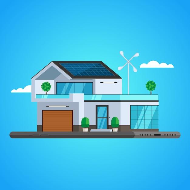 Concetto di casa intelligente Vettore Premium