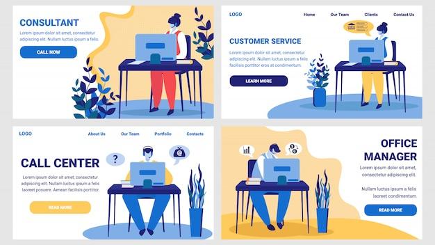 Consulente, servizio clienti, call center, ufficio Vettore Premium