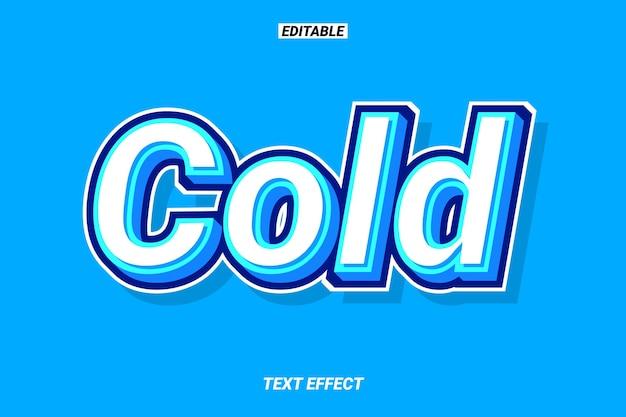 Raffreddare effetto testo blu 3d Vettore Premium