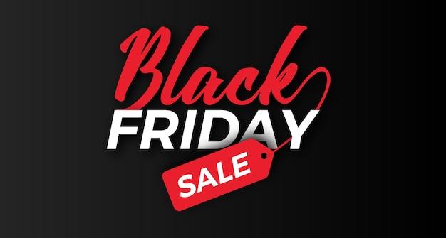 Fantastica tipografia del titolo per banner di offerta di vendita del venerdì nero Vettore Premium