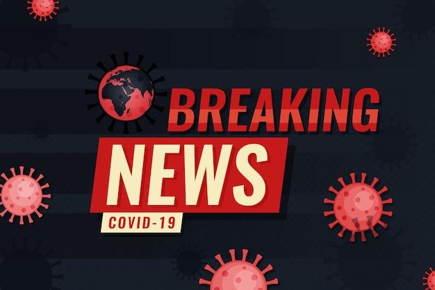 Sfondo delle ultime notizie sul coronavirus Vettore Premium