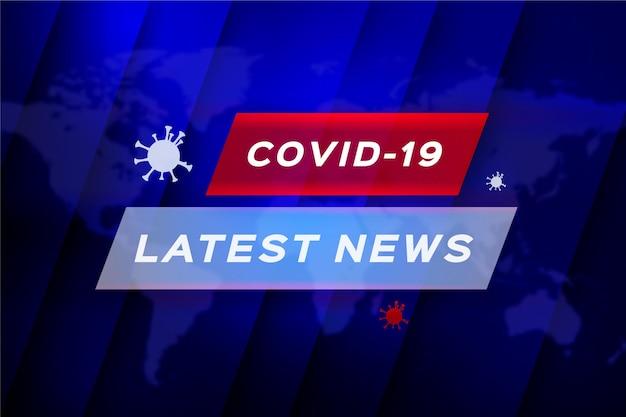 Ultime notizie sul coronavirus - sfondo Vettore Premium