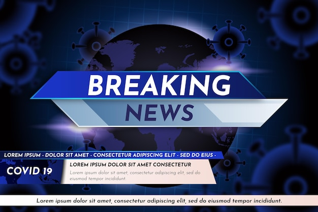 Coronavirus breaking news wallpaper Vettore Premium
