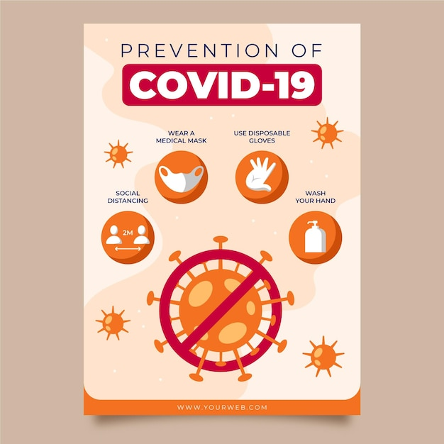 Tema del poster di prevenzione del coronavirus Vettore Premium