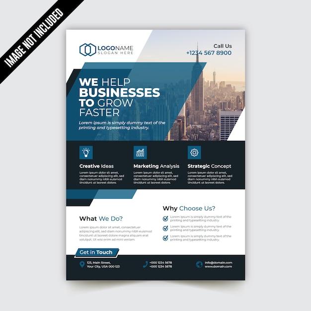 Modello di brochure aziendale pieghevole pieghevole Vettore Premium