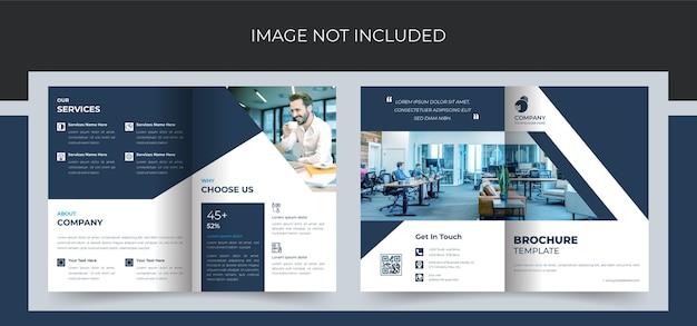 Modello di progettazione brochure aziendale bifold aziendale in formato a4. Vettore Premium