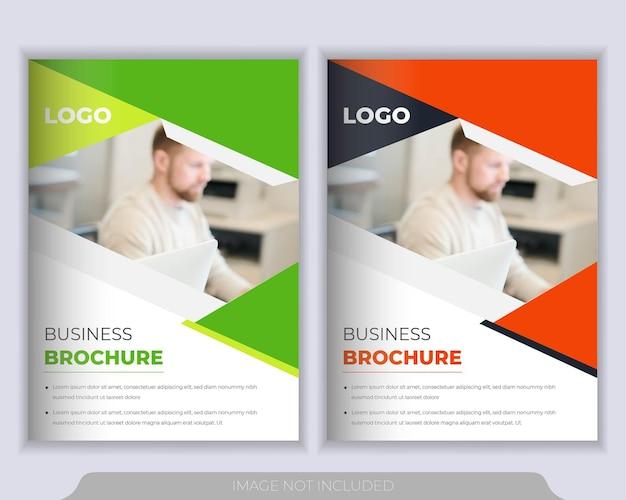 Libretto aziendale, relazione annuale e modello di copertina dell'opuscolo Vettore Premium
