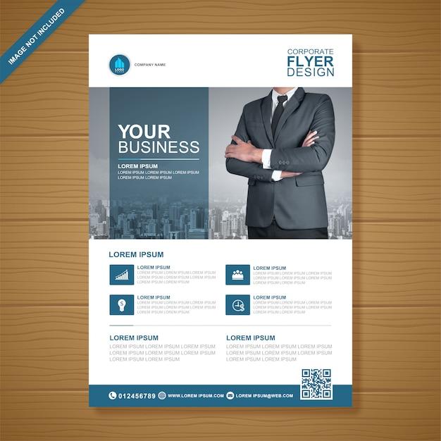 Modello di progettazione flyer business copertina a4 Vettore Premium