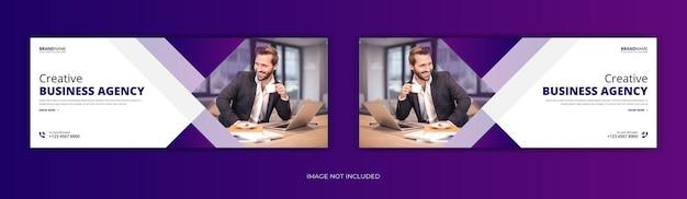 Progettazione del modello di banner web copertina di facebook di affari aziendali Vettore Premium