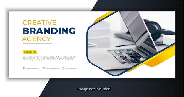 Modello di copertina o banner web aziendale Vettore Premium
