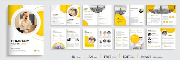 Progettazione di layout modello brochure multipagina aziendale Vettore Premium