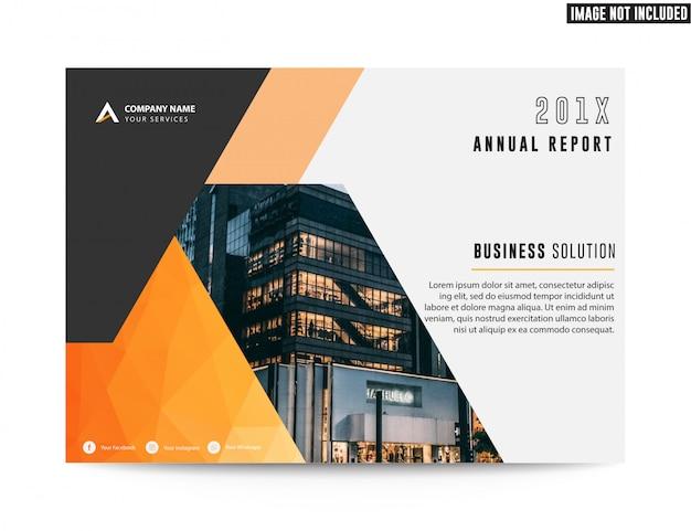 Brochure aziendale flyer rapporto annuale aziendale Vettore Premium