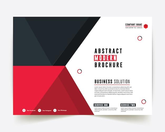 Rapporto annuale di business style red e blue color business Vettore Premium