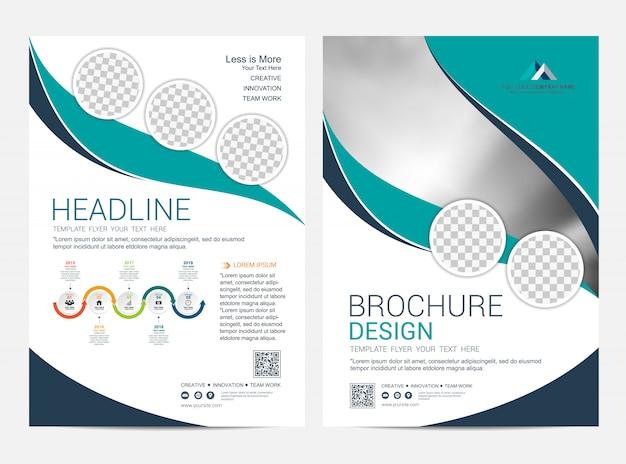 Modello di layout opuscolo corporativo, design volantino volantino Vettore Premium
