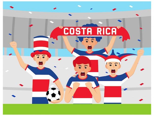 Sostenitori costaricani in design piatto Vettore Premium