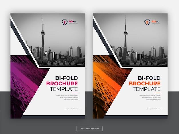 Modello di volantino relazione annuale copertina brochure creativa Vettore Premium