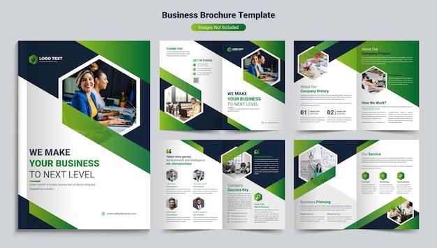 Modello di progettazione brochure aziendale creativo Vettore Premium