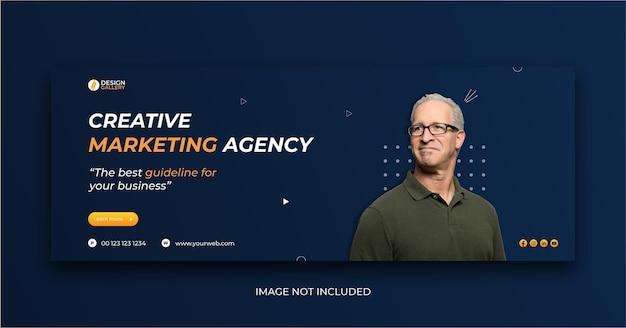 Agenzia di marketing creativa e modello di banner web creativo moderno Vettore Premium