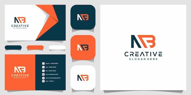 Monogramma creativo, m combinato con modello di design del logo b. Vettore Premium