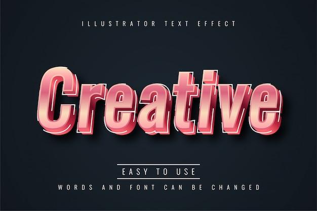 Effetto di testo creativo Vettore Premium