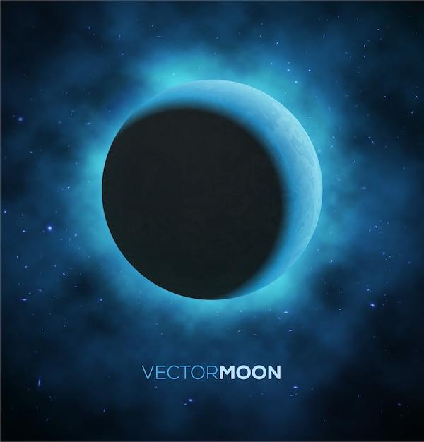 Luna crescente. illustrazione. Vettore Premium