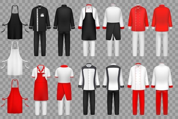 Set di abbigliamento culinario Vettore Premium