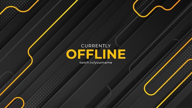 Modello vettoriale di sfondo banner twitch attualmente offline Vettore Premium