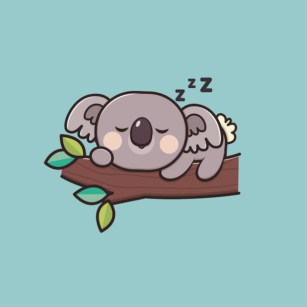 Illustrazione di koala animale carino Vettore Premium