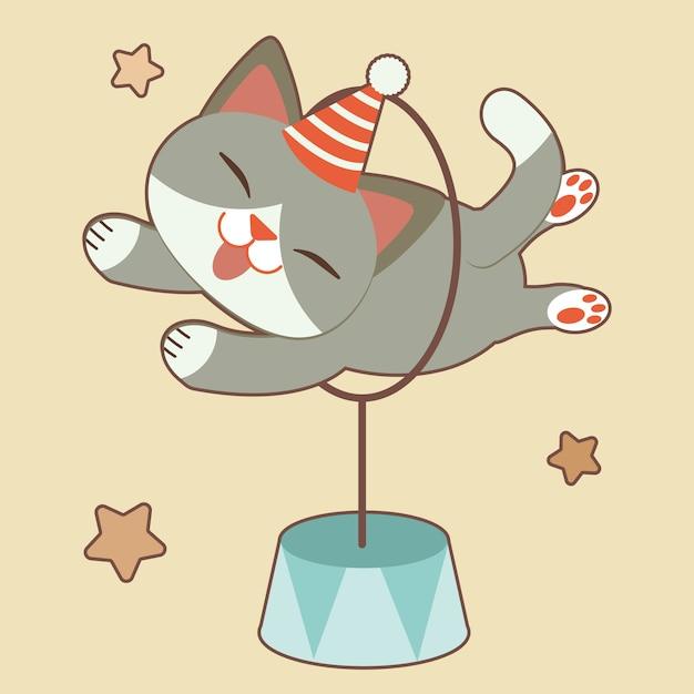 Illustrazione di gatto carino Vettore Premium