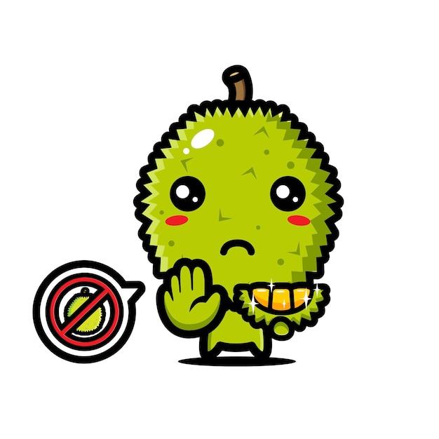 Carino durian è in posa di arresto Vettore Premium