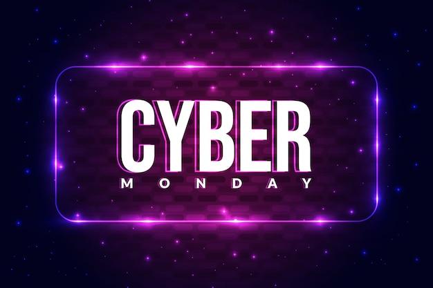 Priorità bassa del manifesto di lunedì di cyber con il concetto d'ardore. Vettore Premium