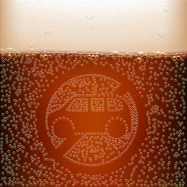 Birra scura Vettore Premium