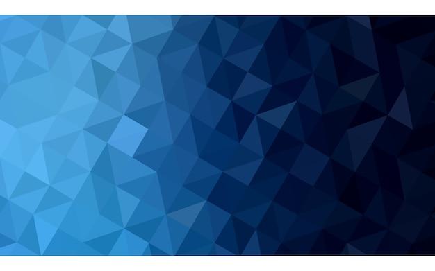 Priorità bassa del mosaico del triangolo vettoriale blu scuro Vettore Premium