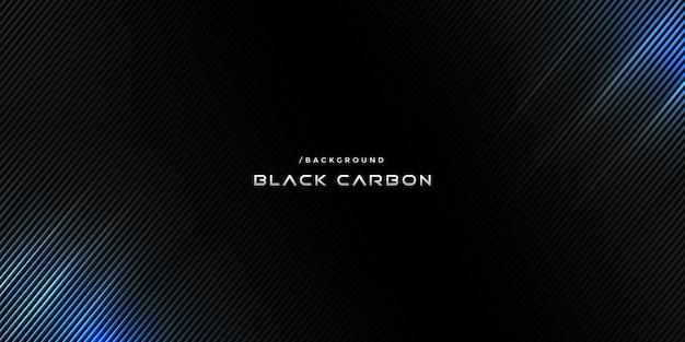 Tecnologia del carbonio scuro sfondo con luce blu Vettore Premium