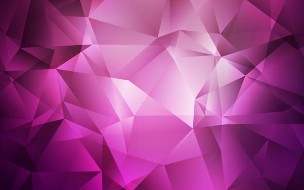 Sfondo triangolare brillante rosa scuro. Vettore Premium
