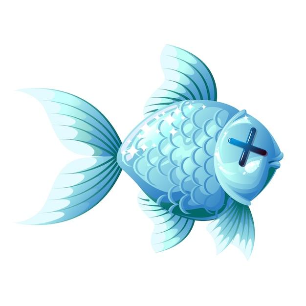 Pesce morto. Vettore Premium