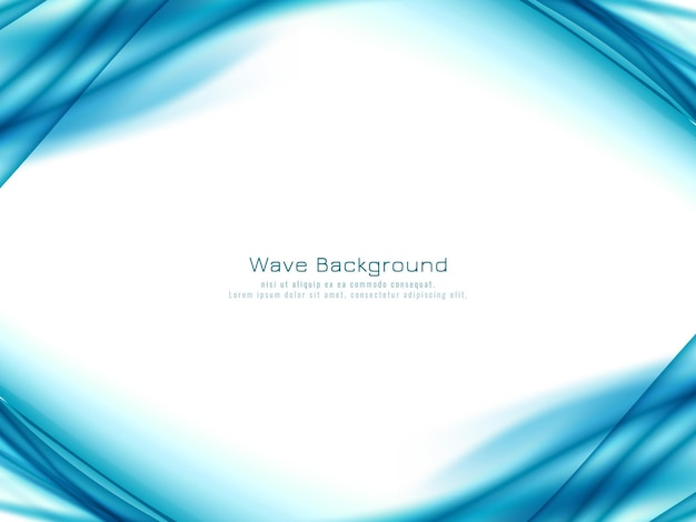 Sfondo decorativo elegante onda blu Vettore Premium