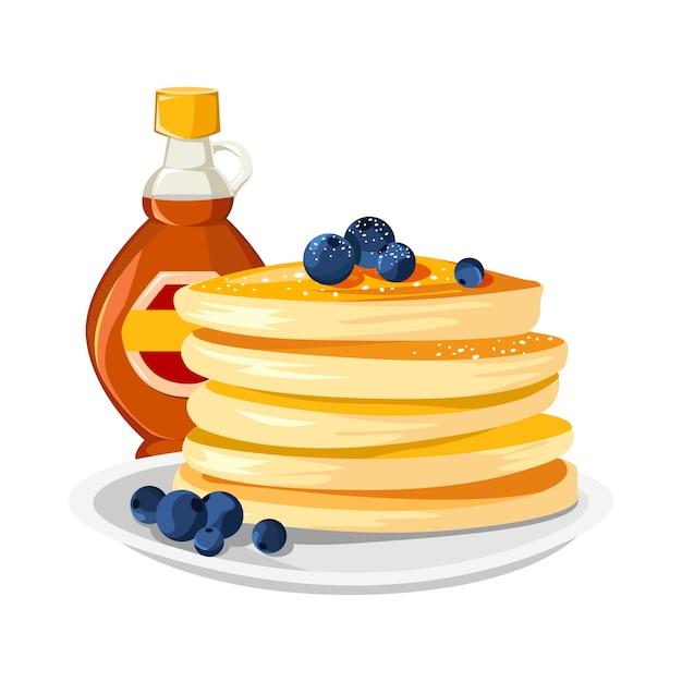 Sfondo deliziosi pancake Vettore Premium