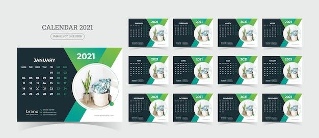 Illustrazione del calendario da tavolo Vettore Premium