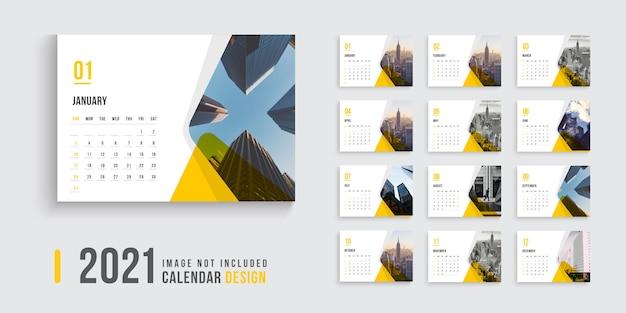 Calendario da tavolo Vettore Premium
