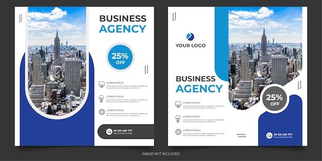 Modello di post sui social media dell'agenzia digitale Vettore Premium