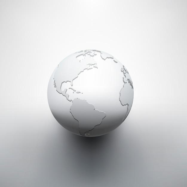 Immagine digitale della terra del globo Vettore Premium