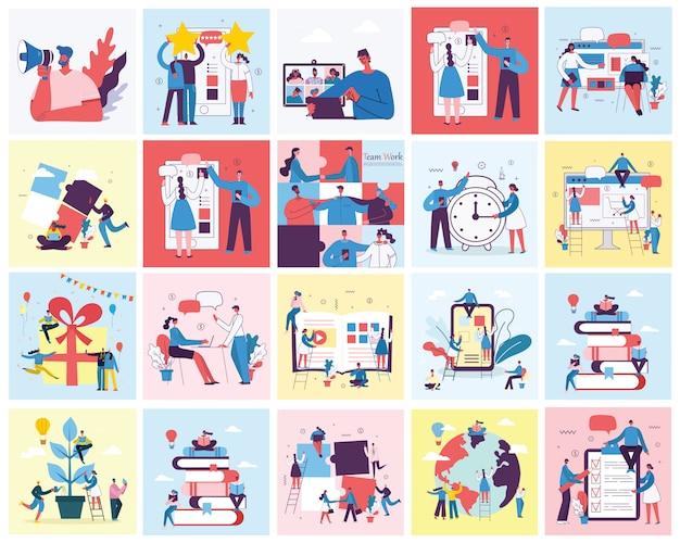 Illustrazione di concetto di marketing digitale Vettore Premium